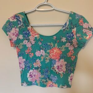 Garage Floral Crop Tshirt